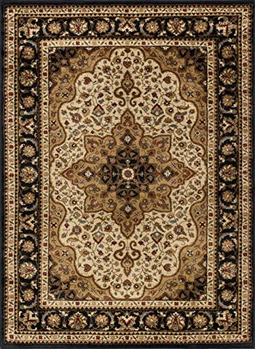 Tayse Frederick Ivory 8×10 Rectangle Area Rug for Living, Bedroom, or Dining Room – Traditional, Oriental