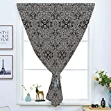 dark grey curtains dunelm iPrint Blackout Window Shades,Free Punching Magic Stickers Curtain,Dark Grey,Abstract Antique Pattern with Curves and Swirls Renaissance Revival Vintage,Black Dimgrey,Paste Style,for Living Room
