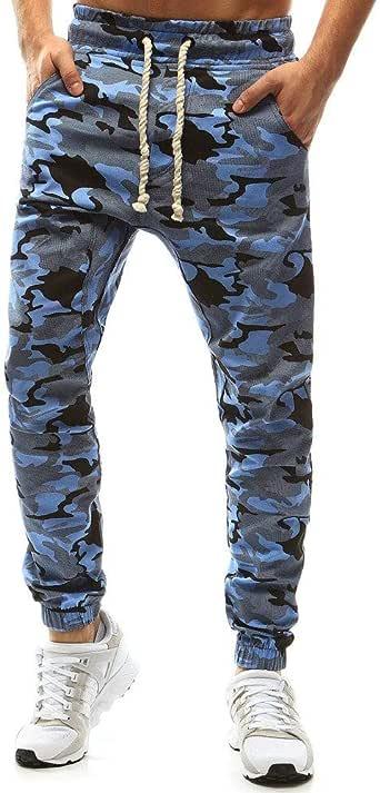 Pantalones de chándal para Hombre Pantalones de Camuflaje para ...