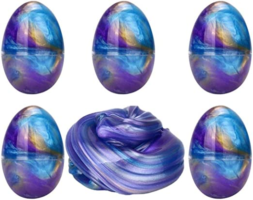 Anditoy 5 Pack Slime Eggs Galaxy Slime Stress Relief Toy for Kids Boys Girls Christmas Stocking Stuffers Party Favors