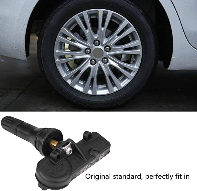Keenso 4pcs Auto TPMS Sensor Reifendruckkontrollsystem Reifendrucksensor f/ür Chrysler Jeep Dodge Ram FIAT 56029398AB