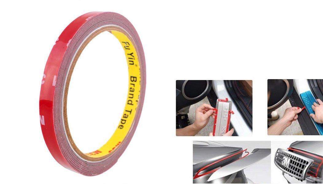 takestop Ruban adhésif double face 3M x 8mm en mousse acrylique Sticker professionnelle étanche résistant Fixation pour intérieur extérieur voiture