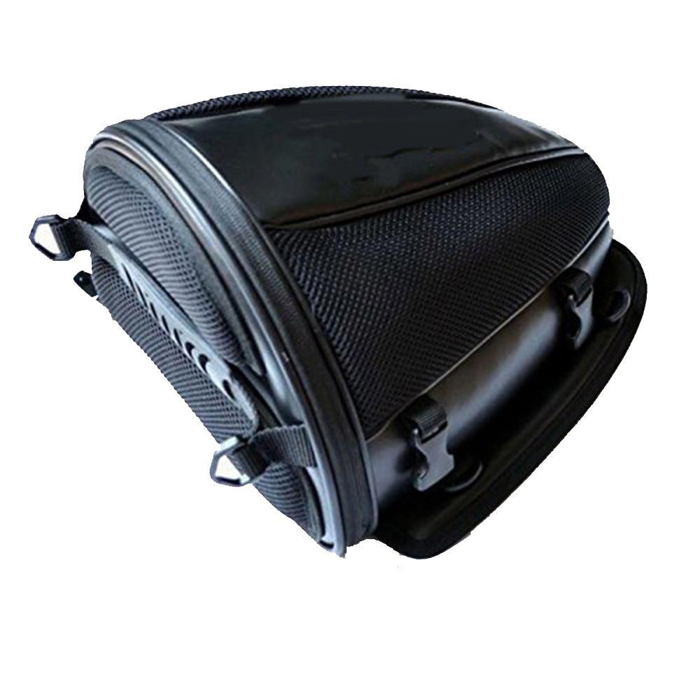 RUNMIND Waterproof Back Seat Carry Luggage Tail Bag Motorcycle Bike Rear Trunk Saddlebag Black Fashion