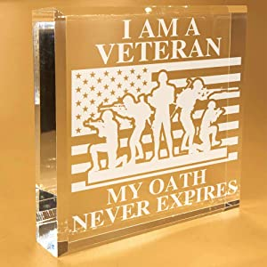Veteran Gifts For Men | Grandpa | For Women | DAD | Employees | Navy | Marine | Christmas | Paperweight | Keepsake