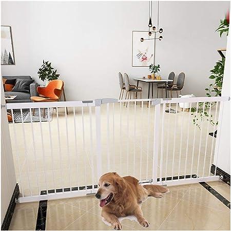 Barreras de puerta Valla Seguridad Infantil Puertas De Seguridad Expandibles For Mascotas For Bebés For Escaleras Paseo A Través Del Patio De Juegos Valla De Chimenea Puerta De Metal Montaje De Presió: