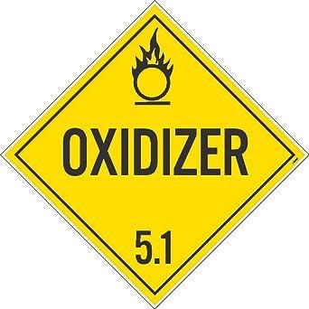 NMC DL14TB100 - Cartel de seguridad, Oxidante 5.1, 10.75 x ...