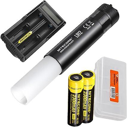 NITECORE LR12 1000 Lumen Lantern Flashlight w// Two Batteries /& Charger