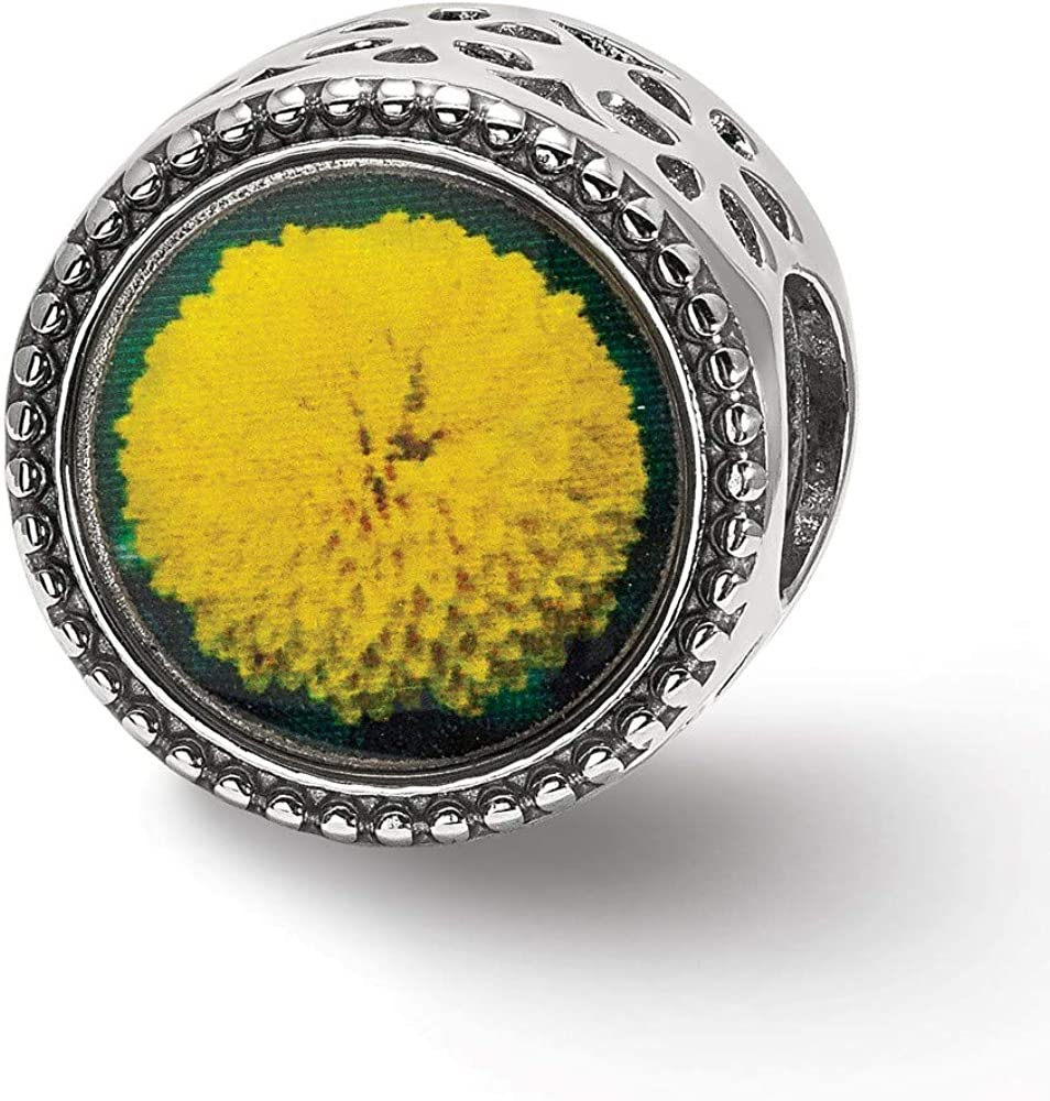 Jewelry Beads Themed Sterling Silver Reflections November Flower Bead