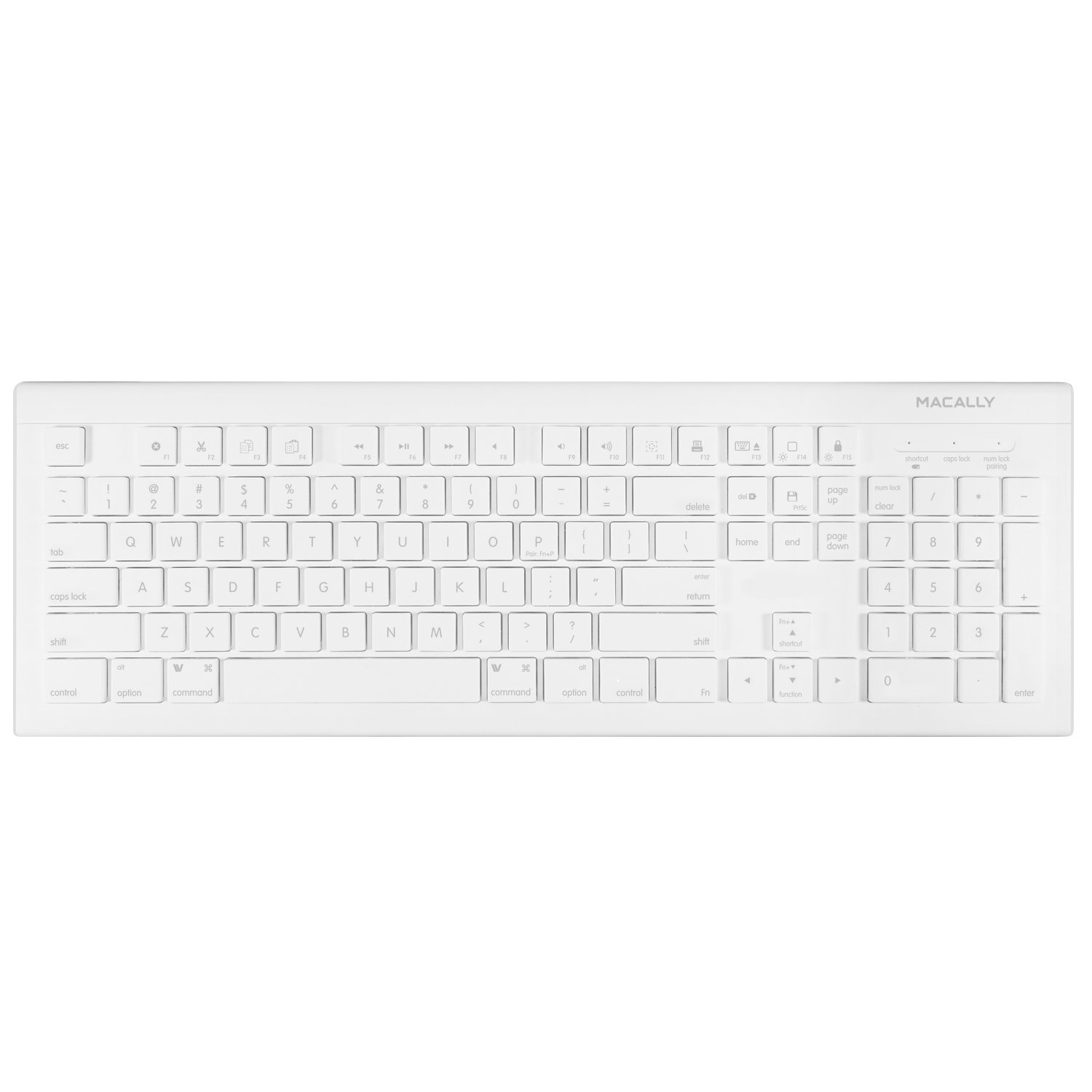 104 Key Full-Size Usb Keyboard.Features 15 Convenient Macos X Shortcut Keys for Mace Group Inc / Macally Peripherals MKEYE