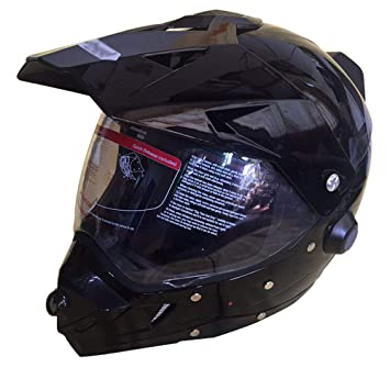 Casco De La Cámara De La Motocicleta De Bluetooth Fuera De La Carretera Inteligente, Certificado