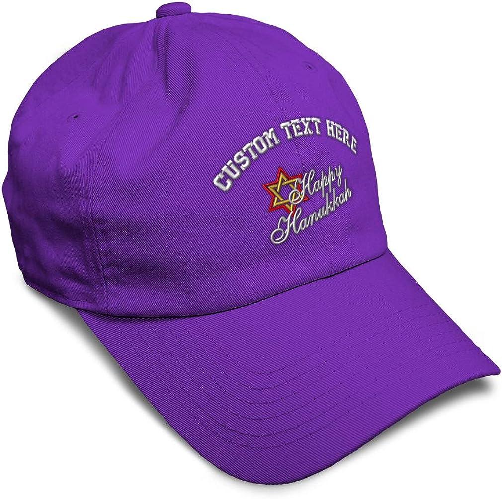 Custom Soft Baseball Cap Happy Hanukkah Embroidery Dad Hats for Men /& Women