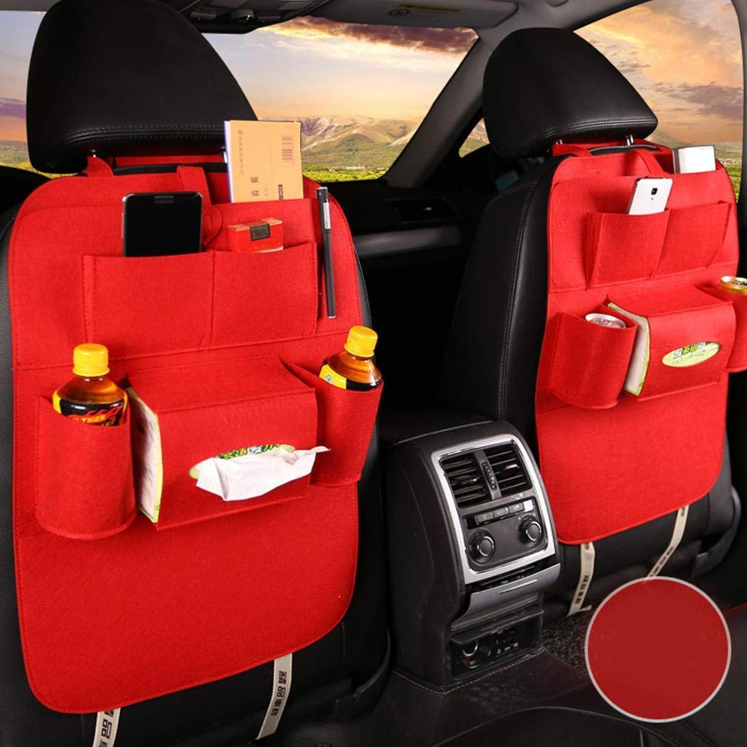 Back seat Organizer for Kids Toy Bottle Drink Vehicles Travel Accessories dozenla Backseat Car Organizer Kick Mats Car Seat Back Protectors