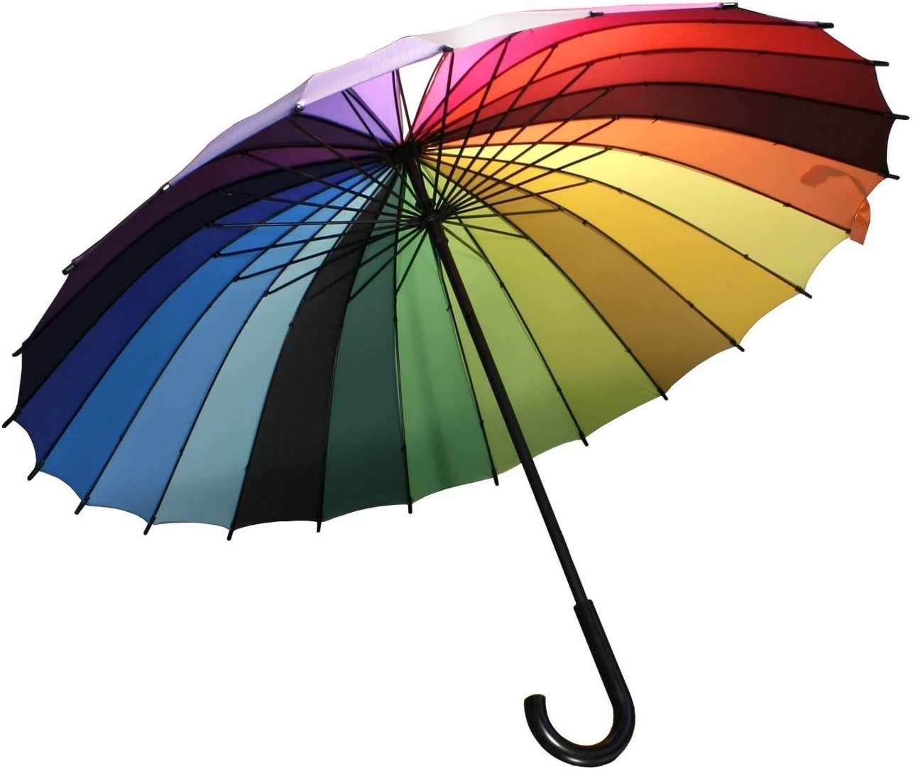 Streamline Rainbow Color Wheel Umbrella 2 PACK
