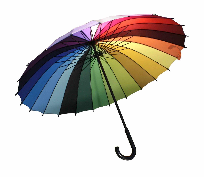 Streamline Rainbow Color Wheel Umbrella 2 PACK