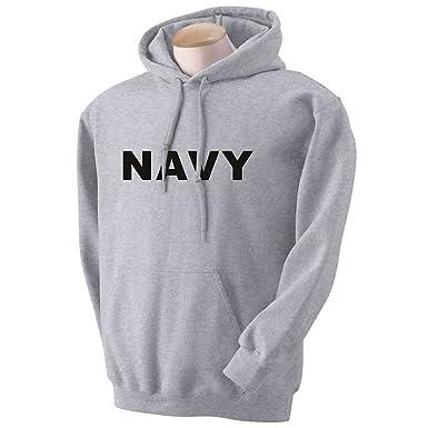 NAVY Hooded Sweatshirt in Gray at Amazon Men's Clothing store ...