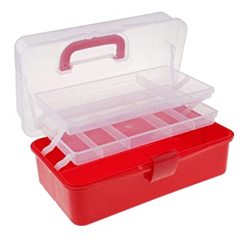 3Tray Plastic Clear Jewelry Bead Organizer Storage Box Container Craft Tool Case