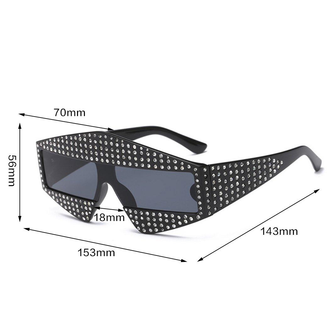 1747394533 Horrenz Piloto estilo de marco gafas de sol de diamantes de los hombres de  las mujeres unisex Gafas de sol de gran tama?o para los hombres nuevos de  lujo ...