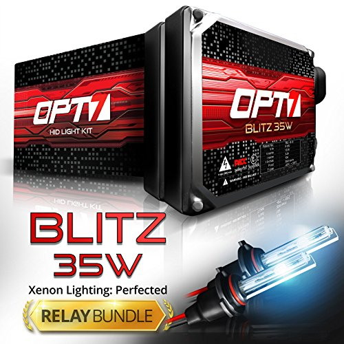Blitz 35w HID Kit - All Bulb Sizes and Colors - Relay Capacitor Bundle - 2 Yr Warranty - H11 (H8, H9) (8000K Ice Blue Xenon Light)