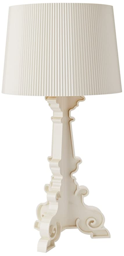 Kartell Bourgie Lampe, Polycarbonat, E14, Weiss/Gold, 68 x 78 x 68 ...