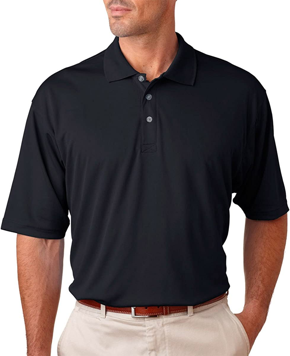 UltraClub Mens Cool /& Dry Mesh Sport Polo Shirt Pack of 5 Black X-Large.