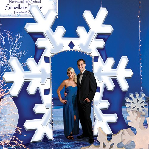 Giant Winter Snowflake Arch Standup Photo Booth Prop