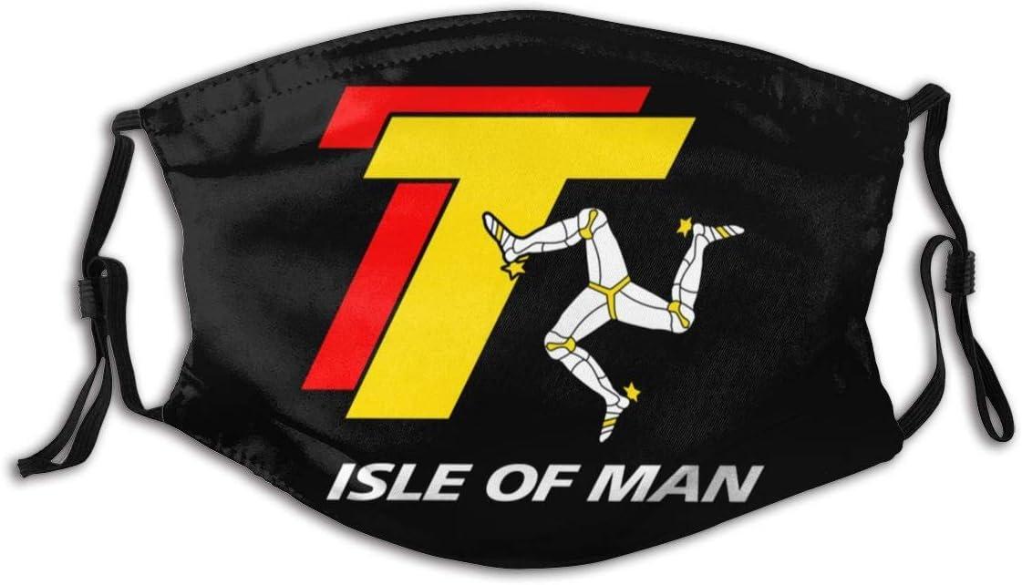 Gooeyokoi Mundschutz mit Filter Waschbar Atmungsaktive Staubdicht Bandana Isle of Man