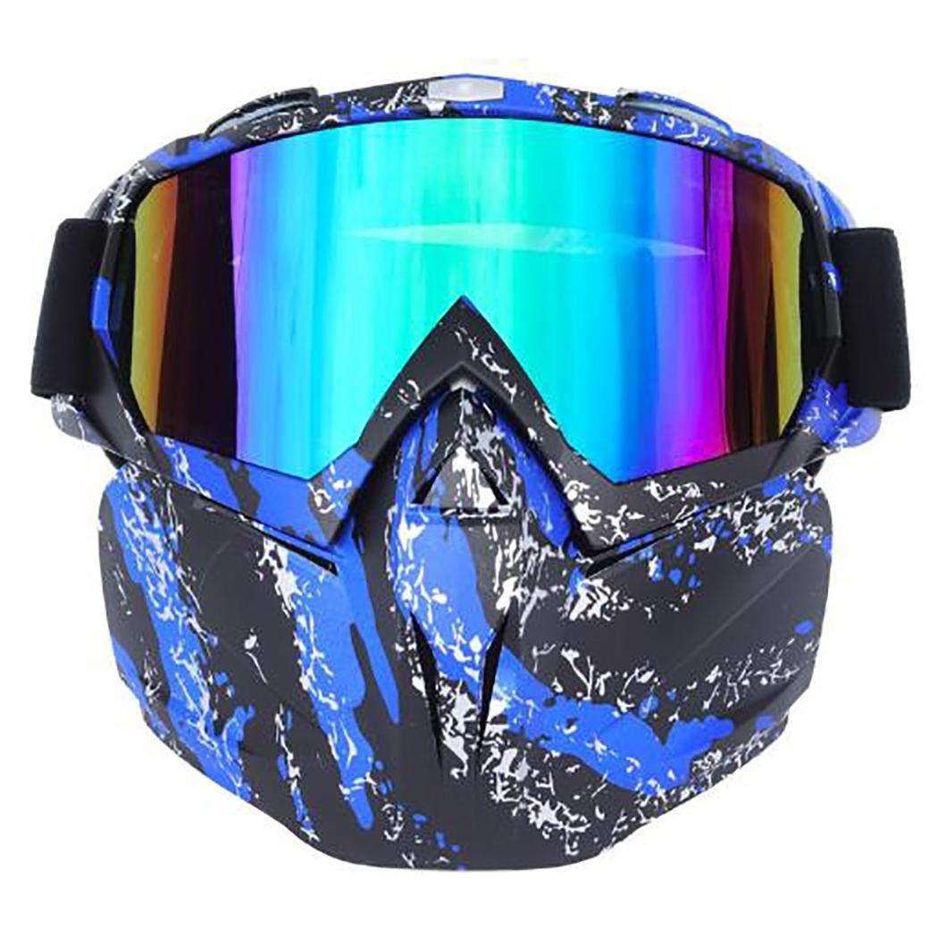 Ankidz Windproof Motorcycle Helmet Mask Glasses Detachable Riding Goggles Glasses Eyewear