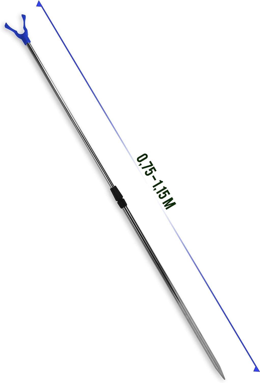 normani 5er Set Teleskop Rutenhalter 75-135 cm Rutenauflage Rutenst/änder Schnurlaufkerbe U-Auflage