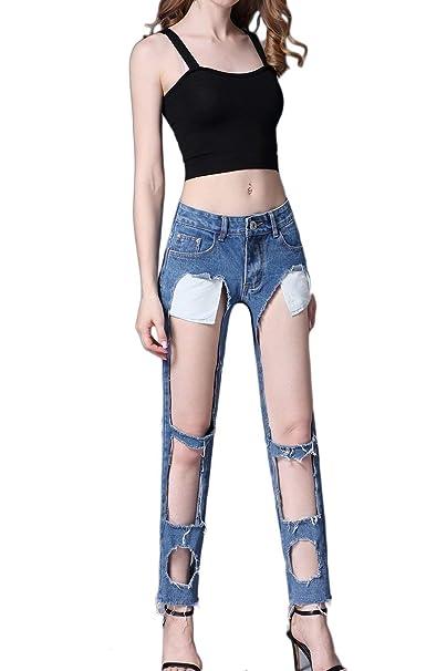 Pantalones De Mezclilla Moda De Mujer con Pantalones ...