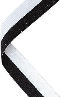 Médaille Ruban Noir/Blanc–30x 0.875en