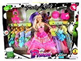 Pretty Girl Princess Children's Kid's Toy Fashion Doll Playset w/ Doll, Assorted Dresses, Accessories