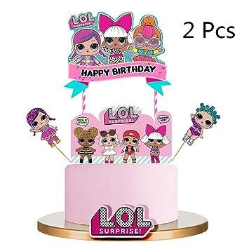 Wondrous Micher Lol Cake Topper Happy Birthday Cake Topper Pink Cake Personalised Birthday Cards Paralily Jamesorg