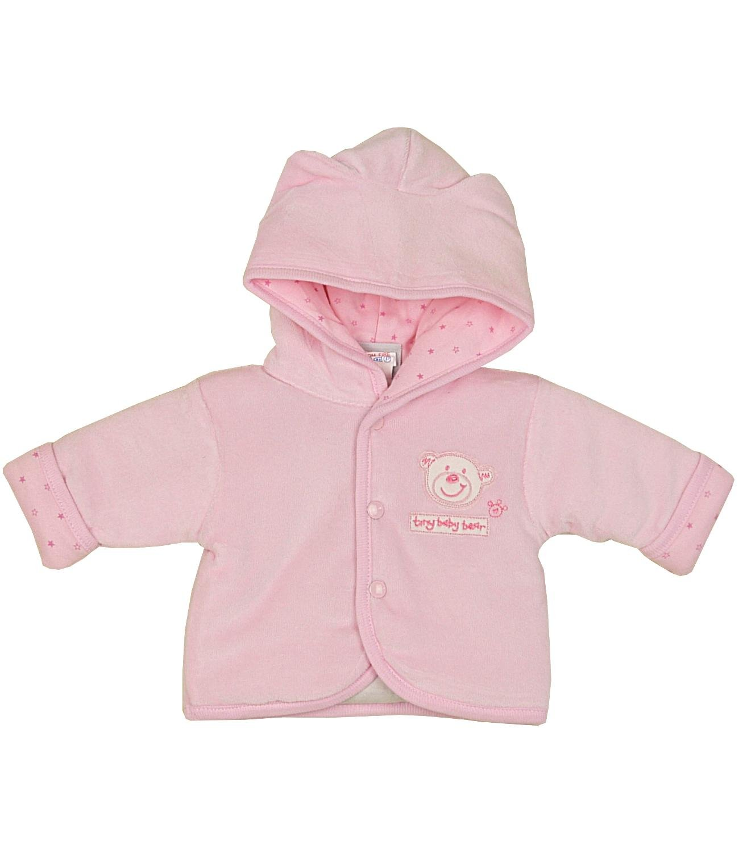 Dandelion Premature Baby Clothes Coat Jacket Cotton Velour Teddy Bear 3-8lb