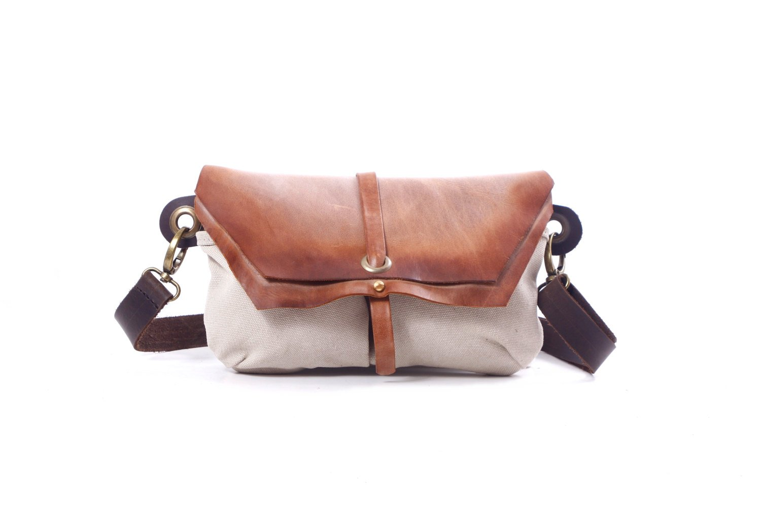 Faded Leather Hip Bag - Fanny Pack - Traveler Bag - Utility Hip Belt - Hip Pouch-Hadmade distress Leather Bag