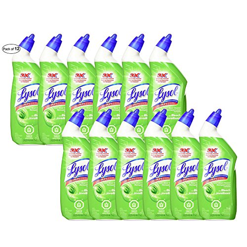 Lysol Toilet Bowl Cleaner, Country, Bleach, Power, Deep Reach, Power & Free, Spring Waterfall (710ml, Bleach) (Pack Of 12) by Lysol ® (Image #1)