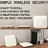 Smart Wi-Fi Alarm System with IP Cameras, Wireless Sensors, Motion Detectors, Remotes and Smartphone Control - Complete DIY Home Security Kit with No Fees