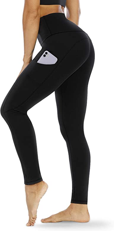 Leggings//Yoga Pants w Credit Card//Key Pocket CompressionGear Mid Waisted