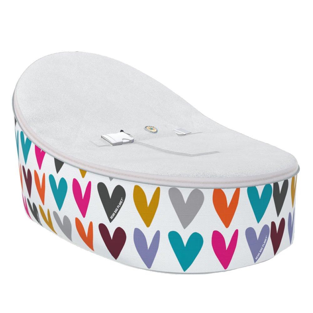 Admirable White Hearts Baby Bean Bag With 2 Removable Covers Amazon Creativecarmelina Interior Chair Design Creativecarmelinacom