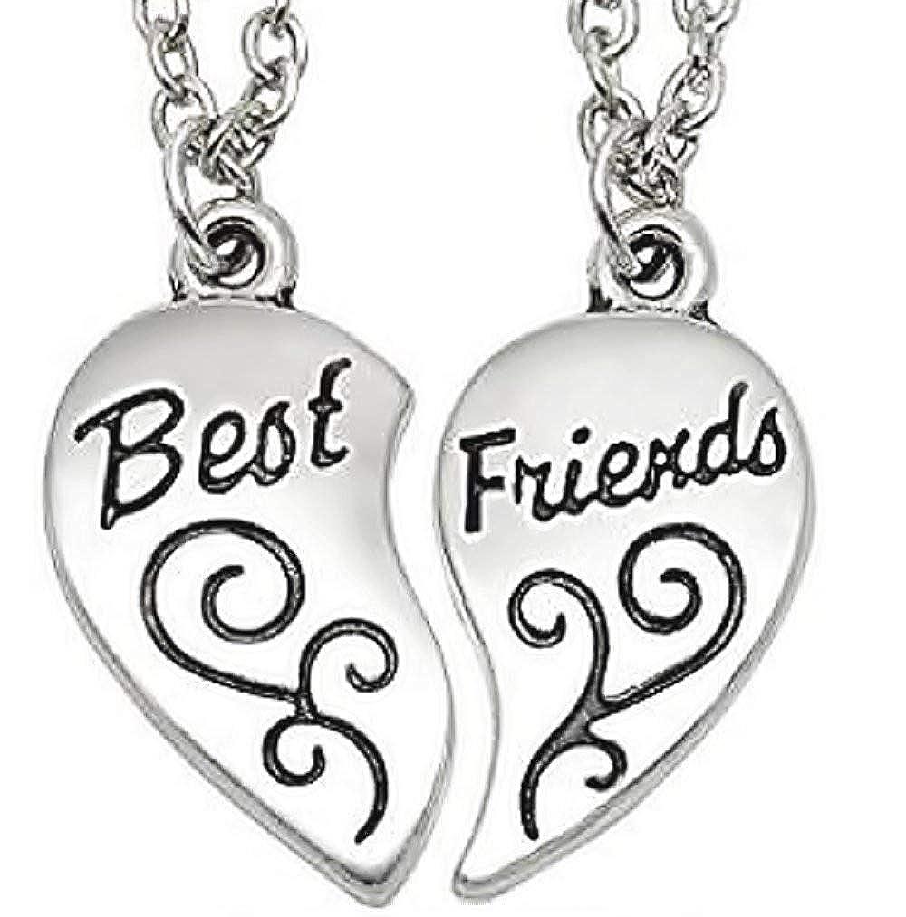 Inception Pro Infinite Collar de Best Friends Dividido en Dos Partes - Mejores Amigos/Mejores Amigos (patrón Grabado en Forma de corazón - 2 Piezas) 793596113598