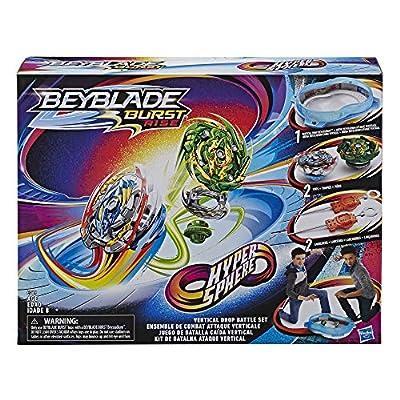 BEYBLADE Burst Rise Hypersphere Vertical Drop Battle Set -- Complete Set with Beystadium, 2 Battling Top Toys & 2 Launchers, Ages 8 & Up: Toys & Games