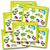 Reptile Stickers Party Favors Pack Kids Toddlers -- Over 600 Reptiles Stickers (Frogs, Snakes, Lizards, Turtles)