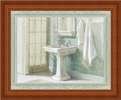 Refreshing Bath I By Danhui Nai Traditional Bathroom Spa Wall Art Print  Framed Décor