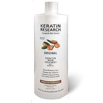 Amazon.com : Tratamiento de Keratina Brasilera por 1000ml, Profesional Complex Blowout, Con Aceite de Argán, Formula y Fragancia Mejorada Keratin Research : ...
