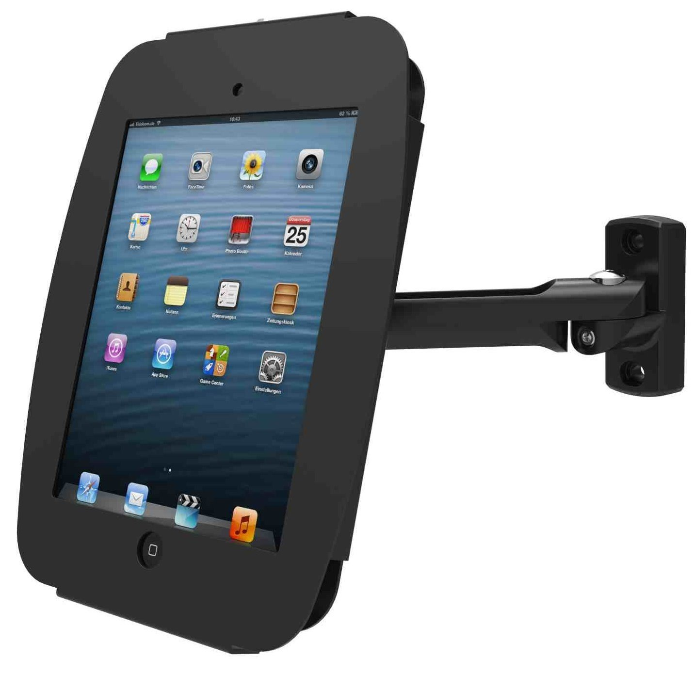Maclocks 827B235SMENB Space Enclosure Stand with Swing Arm Wall Mount for iPad Mini (Black) by Compulocks (Image #2)