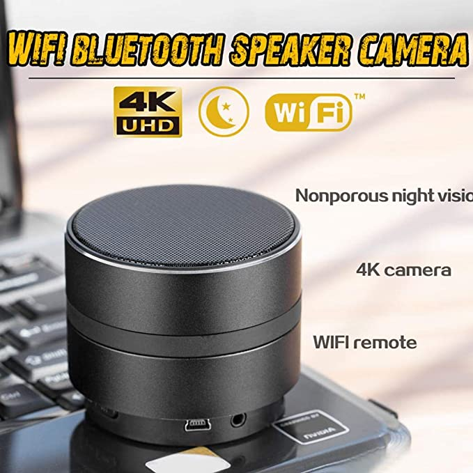 CatcherMy HD 1080P Camara Espia Oculta, Mini Spy CAM WiFi, Altavoz Bluetooth Video Vigilancia Grabador de Detección de Movimiento Seguridad del ...