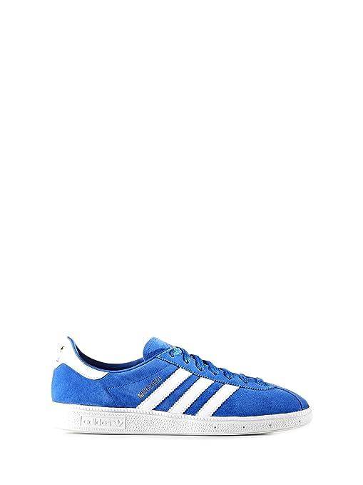 Adidas - Adidas Originals Munchen Scarpe Sportive Uomo Azzurre - Azzurro, 41 ,5