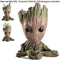 Pawaca Pot de Fleur Groot Figurines Gardiens de la Galaxie, Baby Groot Flowerpot Bébé Mignon Modèle Jouet Pen Pot Cadeaux