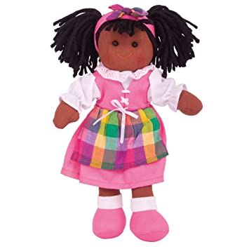 34cm Clothing Outfit Dress Up Bigjigs Toys Pink Striped Pyjamas Doll