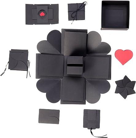 Caja de explosión sorpresa HEALIFTY, álbum de fotos plegable, regalo para aniversario, San Valentín: Amazon.es: Hogar