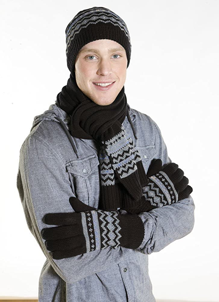 780f47f9 New Mens Jordan Designer Knitted Beanie Hat With Matching Long Scarf and  Gloves. A Very Warm Winter Thermal Fashion Set: Amazon.co.uk: Clothing